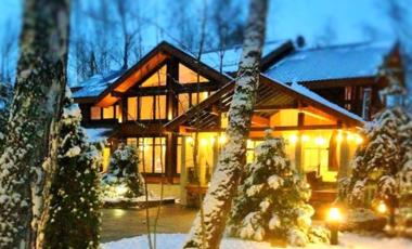 роскошные коттеджи из дерева, купить дом на Рублевке из клееного бруса, роскошные дома