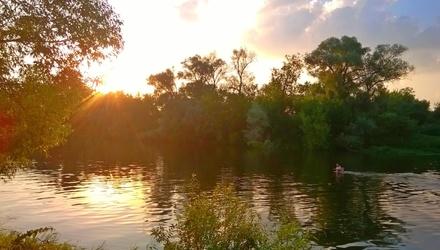 Москва-река ... лето ... жара и прохлада