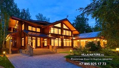 роскошные дома Рублевки, дома - мода и стиль, деревянный дом 21 века