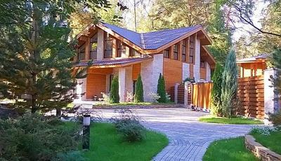альпийское шале в Подмосковье рублевка, интерьеры шале, продажа деревянного особняка с гаражом на 3 авто