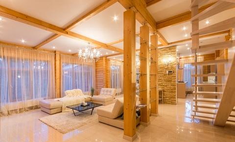 Эксклюзивный коттедж из дерева на Рублевке  продажа и аренда, лучшие деревянные дома виллы в Подмосковье