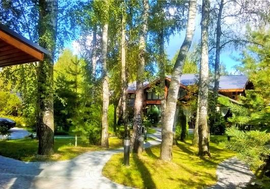 Роскошные деревянные особняки на Рублевке (Николина Гора)