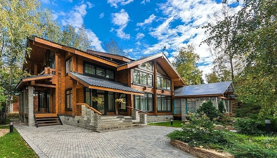 Luxury wooden House on Rublevo-Uspensky highway| village VILLA-NATURE