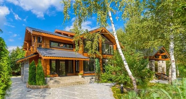 дома на Рублевке фото и цены, красивые деревянные дома de-lux, купить дом на Рублево-Успенском шоссе